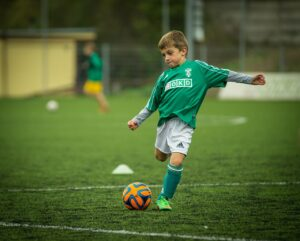 barn og fodbold